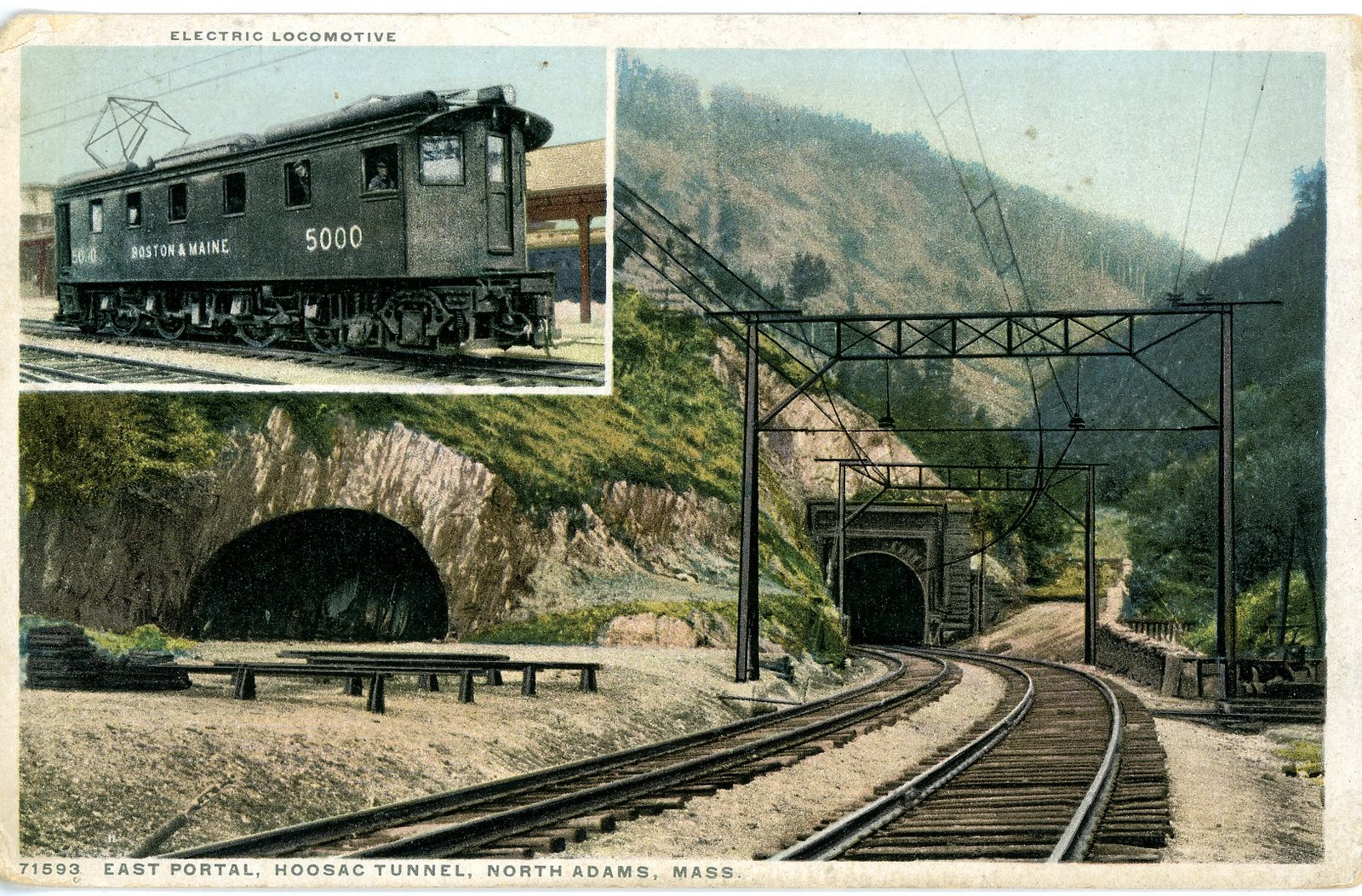 Central Maine Motors >> The National Railroad Postcard Museum: The Great Hoosac Tunnel