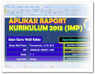 Aplikasi Pengisian Raport Jenjang Smp Kurikulum 2013