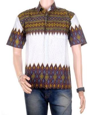 Baju Batik Pria Kombinasi Terbaru