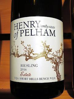 Henry of Pelham Estate Riesling 2016 (88 pts)