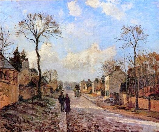 A Road in Louveciennes Camille Pissarro