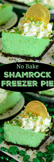 No Bake Shamrock Freezer Pie