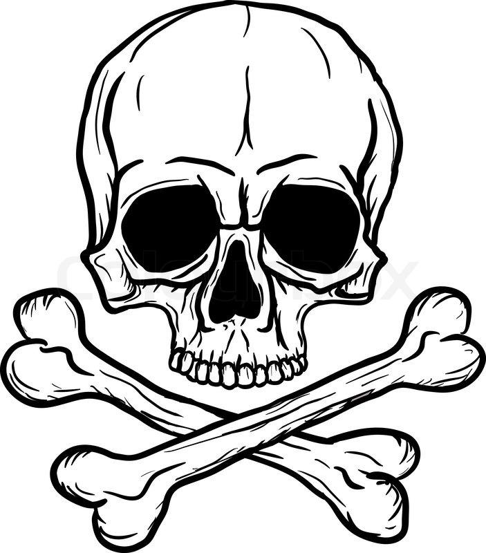 Totenkopf Ausmalbilder Kostenlos   Totenkopf zum Ausmalen ...