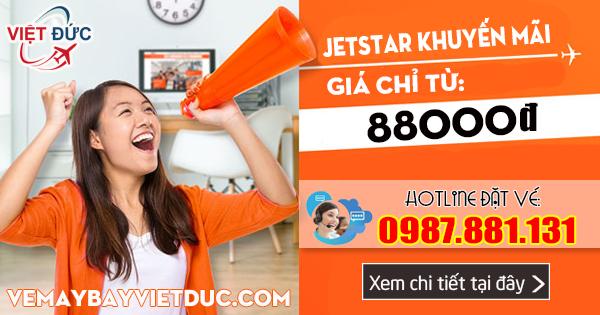 Jetstar khuyến mãi giá từ 88k bay quốc tế