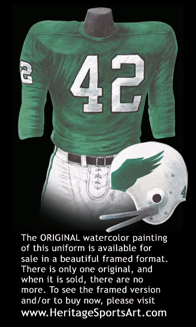 69dd5377337 Philadelphia Eagles Uniform and Team History | Heritage Uniforms and ...