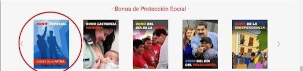 Consulte Monedero Patria Depósito del BONO ESPECIAL por  2 .500.000 bolívares
