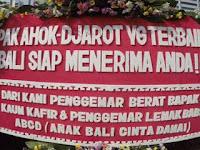 Karangan Bunga Ahok Berasal dari Kaum Kafir Penggemar Babi & Kaum Alay