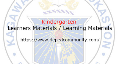 Kindergarten LM - DepEd Community