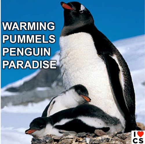 Poster of the Week - Warming Pummels Penguin Paradise