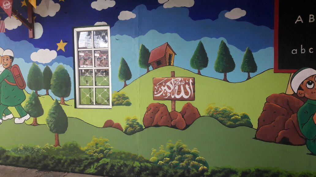 Pelukis mural shah alam for Mural kartun