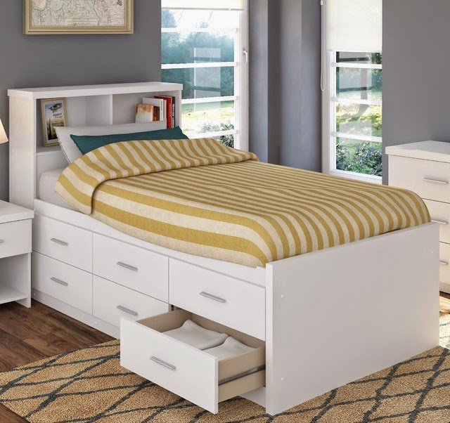 backyard landscaping white twin captains bed with bookcase headboard. Black Bedroom Furniture Sets. Home Design Ideas