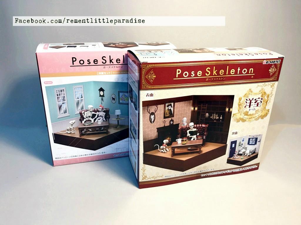 Re-Ment Miniature Pose Skeleton Western Style Room Set