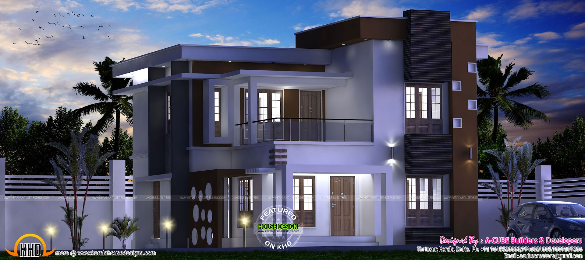 34 lakhs budget contemporary house with interiors for Modern house design budget