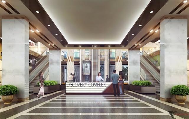 sảnh trung tâm thương mại discovery complex