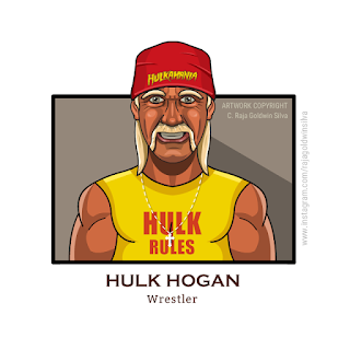 Hulk Hogan Caricature Cartoon
