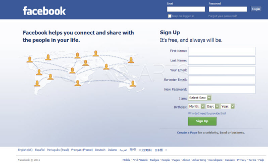 Facebook com english login