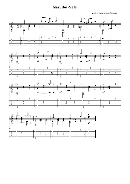 Partitura Guitarra