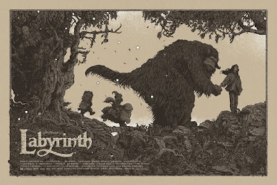 San Diego Comic-Con 2017 Exclusive Labyrinth Variant Screen Print by Richey Beckett x Mondo