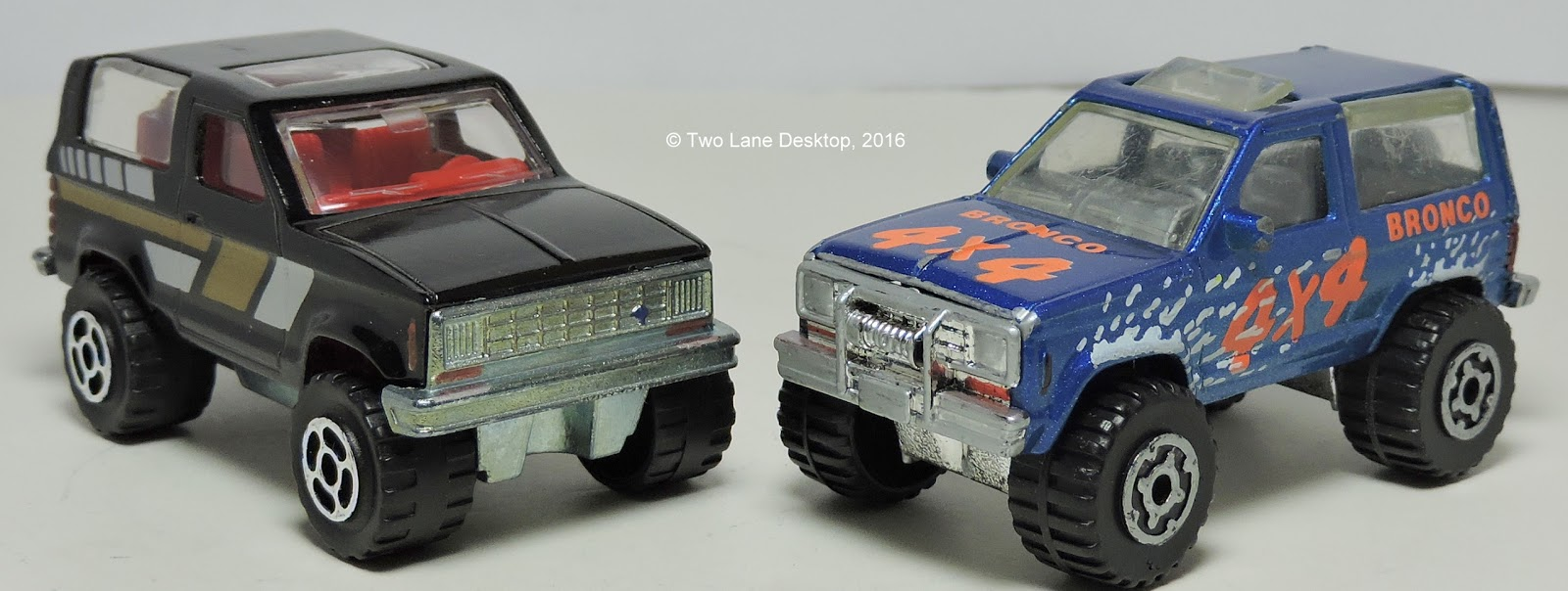 Majorette And Matchbox Ford Bronco Ii Two Lane Desktop 1980 Lifted I Recently Got Different Broncos From The 1980s One Is Full Size Now Based On F 150 Platform While Other Smaller