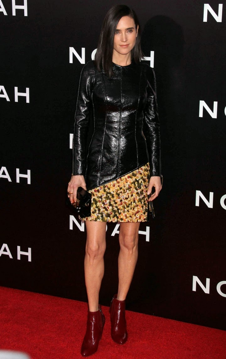 Jennifer Connelly Wears A Louis Vuitton Leather And Tweed