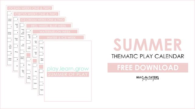 Summer Play Calendar