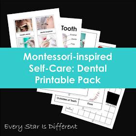 Montessori-inspired Self-Care: Dental Printable Pack