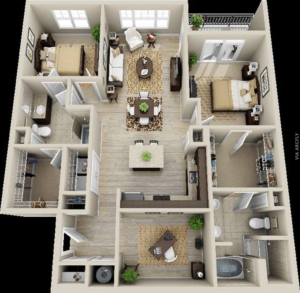 50 denah rumah minimalis 3d 3 kamar tidur 2 lantai dan for Modern house designs bloxburg
