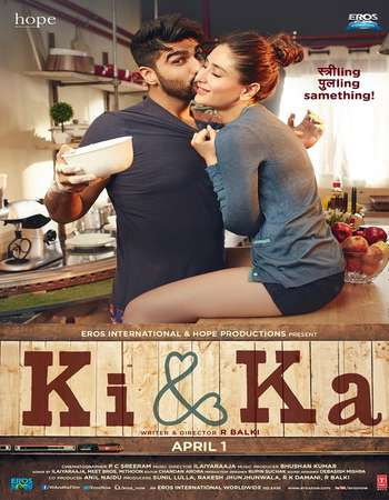 Poster Of Ki and Ka 2016 Hindi 400MB BRRip 720p ESubs HEVC Watch Online Free Download Worldfree4u