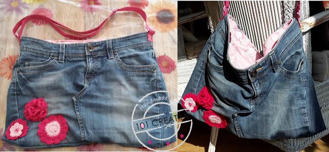 Gerecyclede jeans naar tas