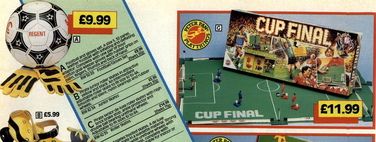 027eeab233 Better, then, to play Cup Final, Peter Pan's football equivalent to the  ever-popular Test Match. A cross between Super Striker and Subbuteo, the  joy of Cup ...