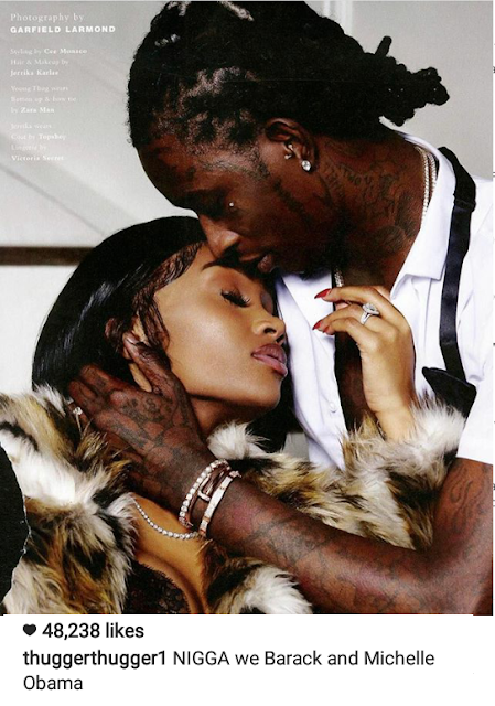 Young Thug compares himself and girlfriend to Barack and Michelle Obama