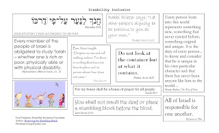 Source sheet of Jewish text around disability inclusion; Removing the Stumbling Block