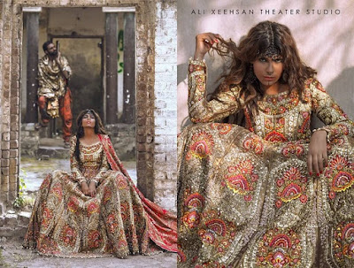 Pakistani bridal dresses designs 2017 by Ali Xeeshan designer