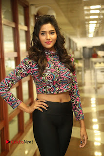 Actress Shalu Chourasiya Stills in Black Leggings at Marriage Needs Bridal Fashion Week 2017 Logo Launch  0004.JPG