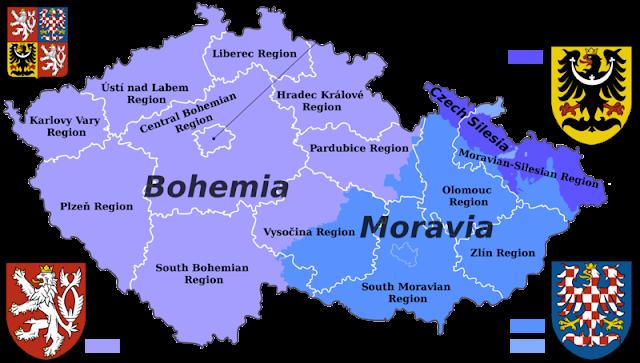 Pembagian wilayah administratif Ceko