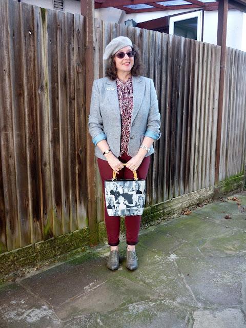 High Collar Blouse, Beret, Brogues | Petite Silver Vixen