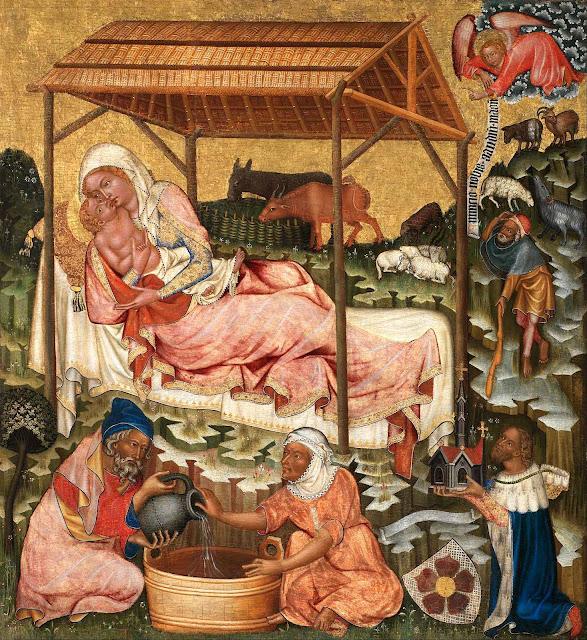 Natividade. Mestre do altar de Vyšší Brod, Galeria Nacional de Praga.