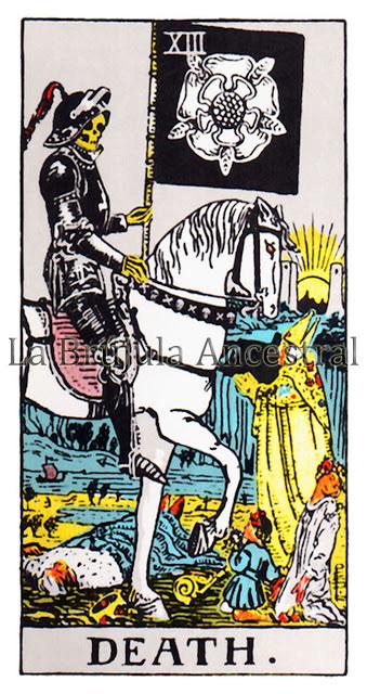Arcano Mayor La muerte Tarot de Rider Waite