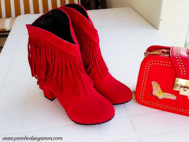 kırmızı süet botlar