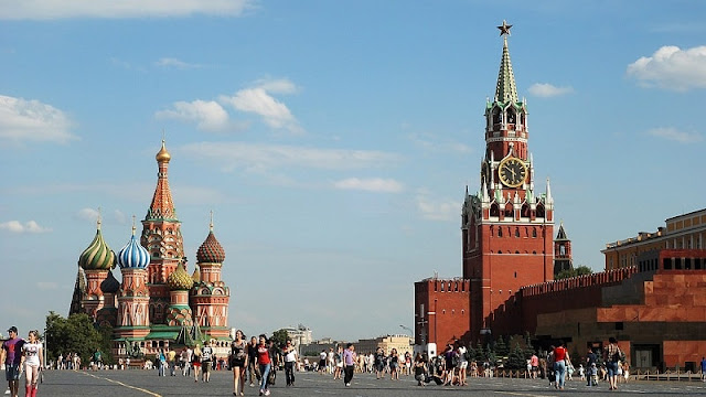 foto red square yang ada di moscow rusia