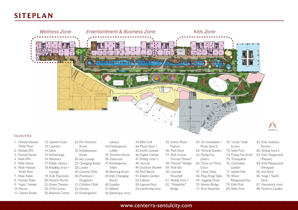 Siteplan Saffron Sentul City Apartment