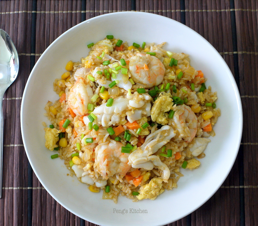 Pengs kitchen tom yum seafood fried rice this fried rice is not spicy at all maybe ive only added 50gm of tom yum paste for 5 cups cooked rice but the taste is very tantalising each mouthful is ccuart Gallery