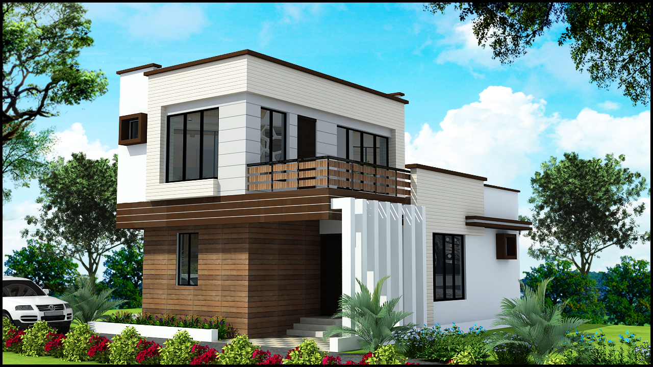 Simplex Front Elevation : Ghar planner leading house plan and design