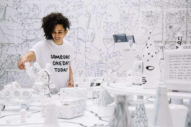 4 Shantell Martin - Someday We Can Installation view Albright-Knox