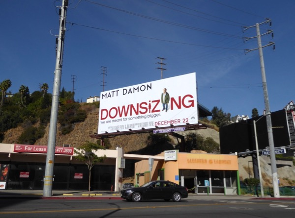 Downsizing film billboard