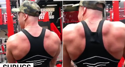 cable shrugs, best trap workout
