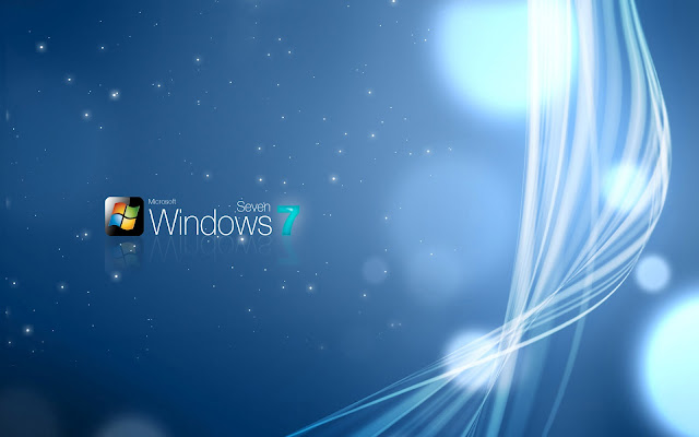 Blauw abstracte Windows 7 wallpaper