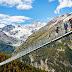 El puente colgante más largo del mundo es reconstruido en los alpes suizos