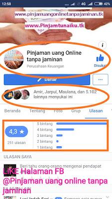 Halaman Facebook Pinjaman uang online tanpa jaminan, rekomendasi Tempat pinjaman uang terpercaya