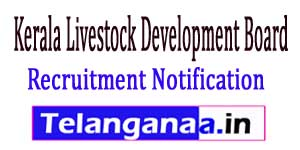 KLDB Kerala Livestock Development Board Recruitment Notification 2017